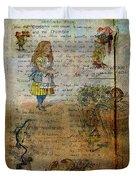 Alice's Adventures Duvet Cover