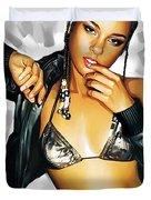 Alicia Keys Artwork 2 Duvet Cover by Sheraz A