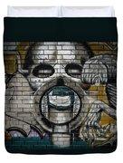 Alien Graffiti Duvet Cover