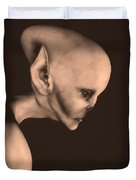 Alien Portrait  Duvet Cover