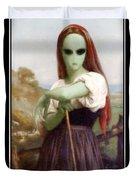 Alien Shepherdess Duvet Cover