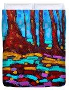 Alizarin Woods Duvet Cover