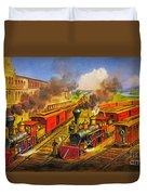 All Aboard The Lightning Express 1874 Duvet Cover
