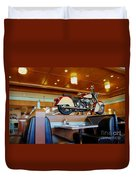 All American Diner 4 Duvet Cover by Bob Christopher