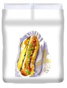 All Beef Ballpark Hot Dog With The Works To Go In Broad Daylight Duvet Cover by Kip DeVore