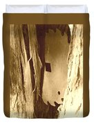 All Caught Up Sepia Duvet Cover