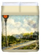 All Clear On The Pere Marquette Railway  Duvet Cover