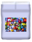 All My Marbles Duvet Cover