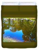 All Pond Treeflection Duvet Cover