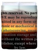 All Rights Reserved Duvet Cover