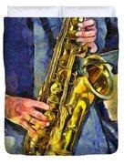All That Jazz  Duvet Cover