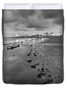 All The Roads Lead To The Pleasure Pier Duvet Cover