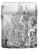 Allegorical Frontispiece Of Rome And Its History From Le Antichita Romane  Duvet Cover
