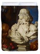 Allegorical Still Life Duvet Cover by Francesco Stringa