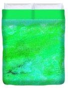 Allegory Aqua Green Duvet Cover