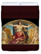 Allegory Of Religious And Profane Painting  Duvet Cover