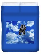 Allen And Steve In Clouds Duvet Cover