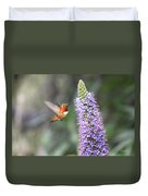 Allen Hummingbird On Flower Duvet Cover