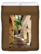 Alley In Eze, France Duvet Cover