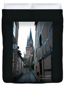 Alley In Schleswig - Germany Duvet Cover