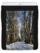 Alley In The Snow Duvet Cover