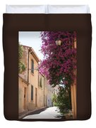 Alley With Bougainvillea - Provence Duvet Cover
