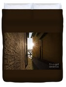 Alley With Sunbeam Duvet Cover