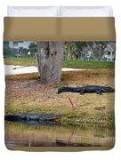 Alligator Hazard Duvet Cover