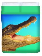 Alligator Head With Open Mouth Duvet Cover