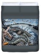 Alligator Hunt Duvet Cover