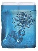 Allium Cyanotype Duvet Cover