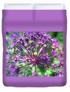 Allium Series - Close Up Duvet Cover by Moon Stumpp