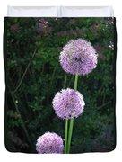 Alliums Duvet Cover