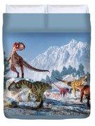 Allosaurus Pack Duvet Cover