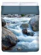 Alluvial Fan Falls On Roaring River Inrocky Mountain National Park Duvet Cover