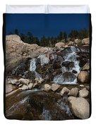 Alluvial Wet Rocks Duvet Cover