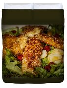 Almond Encrusted Chicken Salad 2 Duvet Cover