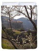 Almond Tree And Monastery   #9815 Duvet Cover