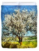 Almond Tree Duvet Cover