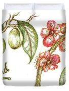 Almond With Flowers Duvet Cover