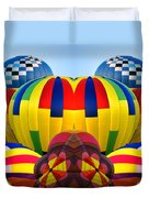 Almost Inflated Hot Air Balloons Mirror Image Duvet Cover