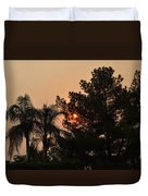 Almosts Gone Now Sunset In Smoky Sky Duvet Cover