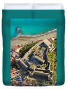 Almunecar Castle From The Air Duvet Cover