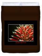 Aloe Bloom Window Duvet Cover