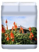 Aloe Vera And Tin Roof Plantation House Duvet Cover