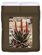 Aloe Vera At The Arboretum Duvet Cover