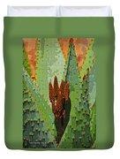 Aloe Vera's New Buds Duvet Cover
