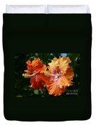 Aloha Keanae Tropical Hibiscus Duvet Cover