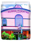 Aloha Theatre Kona Duvet Cover