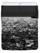 Alone At Sea Duvet Cover